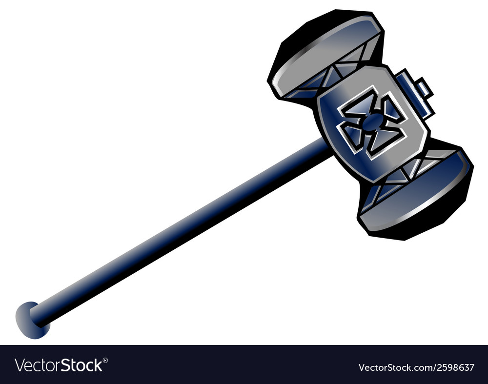 Dwarven hammer vector | Price: 1 Credit (USD $1)