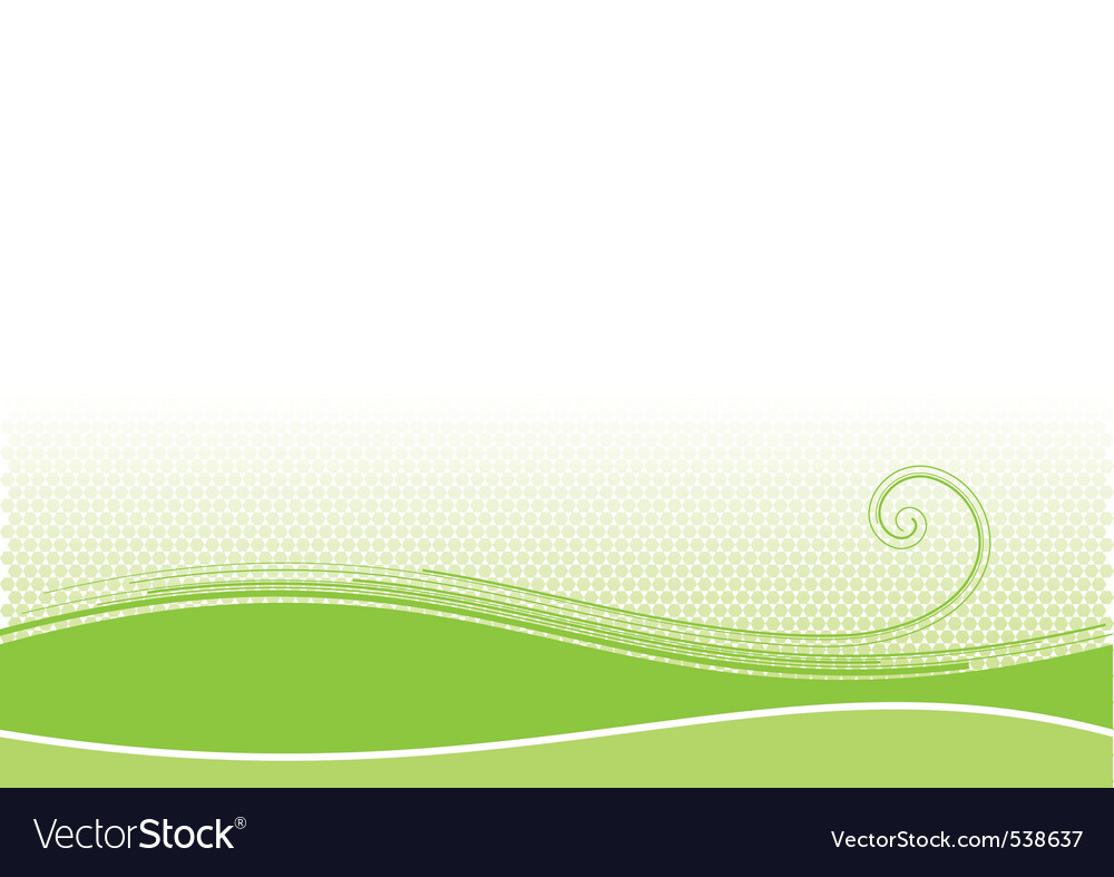 Green background with swirl shape vector | Price: 1 Credit (USD $1)
