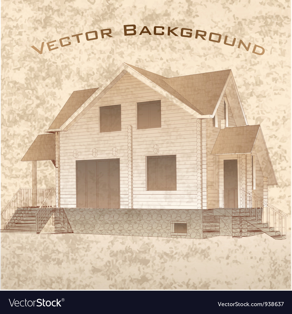 Grunge architectural background vector | Price: 1 Credit (USD $1)