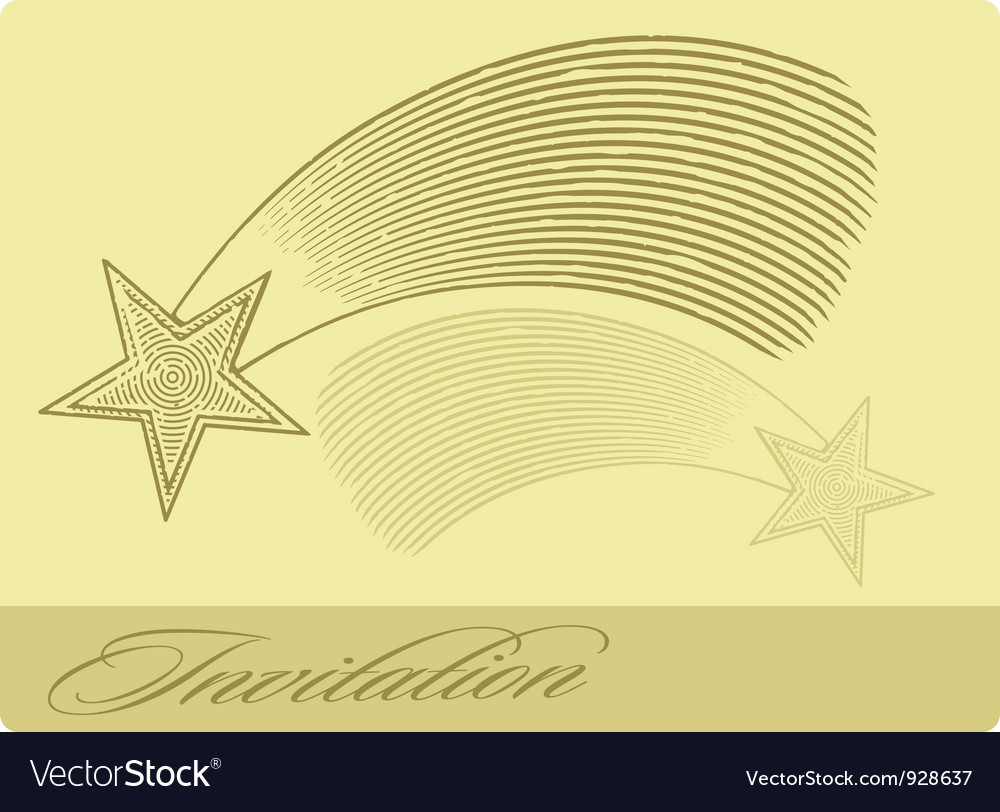 Invitation card with shooting star vector | Price: 1 Credit (USD $1)