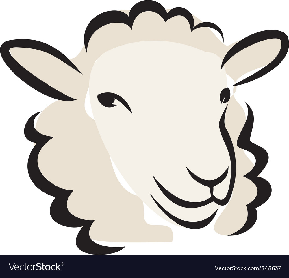 Sheep portrait vector | Price: 1 Credit (USD $1)