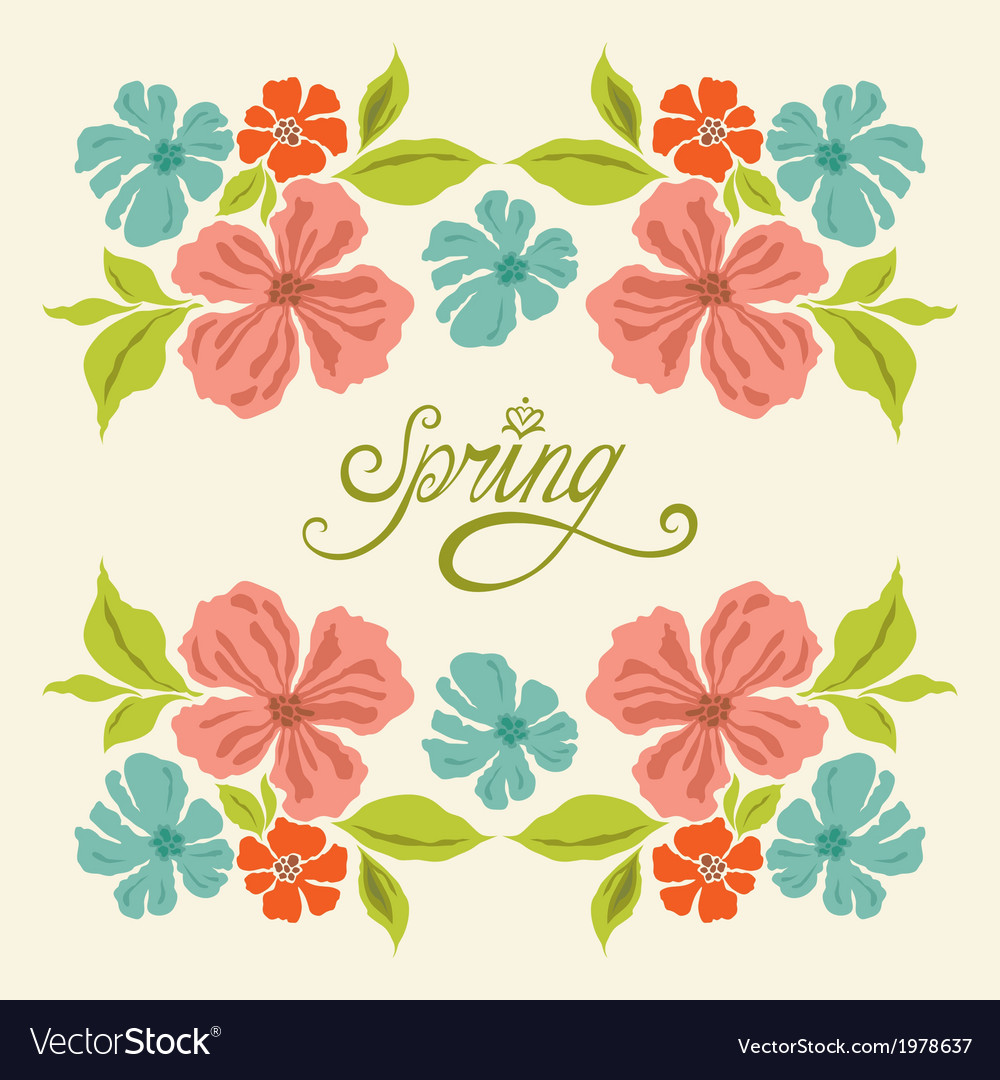 Spring symmetry vector | Price: 1 Credit (USD $1)