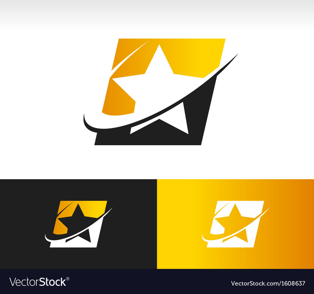 Swoosh star logo icon vector | Price: 1 Credit (USD $1)