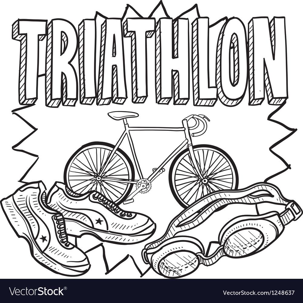 Triathlon vector | Price: 1 Credit (USD $1)