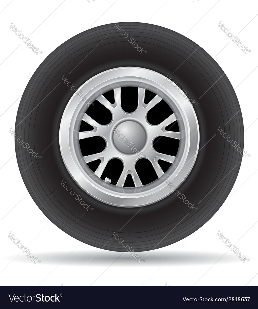 Wheel for racing car vector | Price: 1 Credit (USD $1)