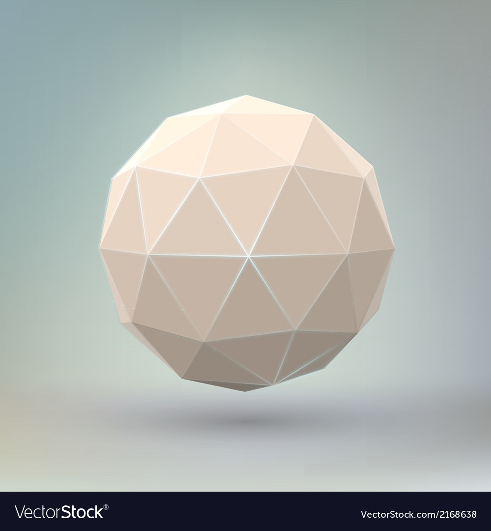 Abstract geometric spherical shape vector | Price: 1 Credit (USD $1)
