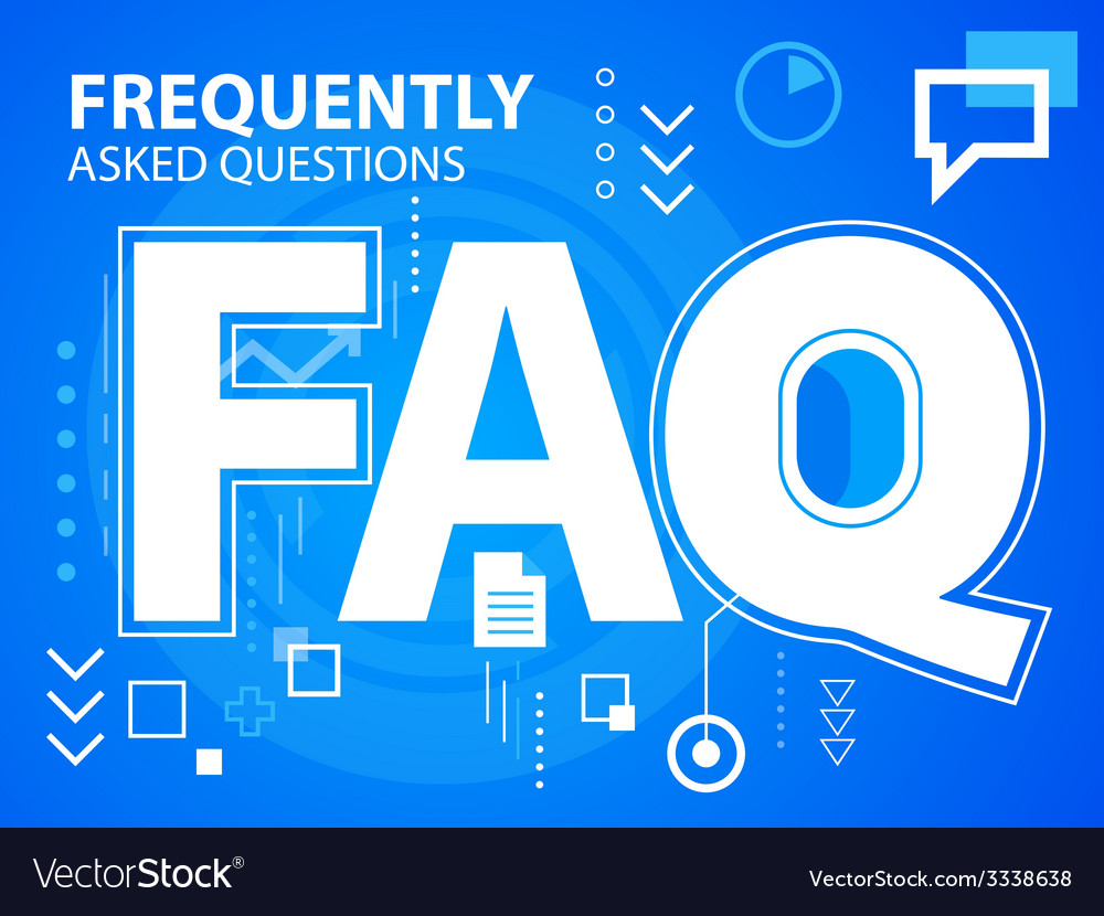 Bright faq on blue background for banner we vector | Price: 3 Credit (USD $3)