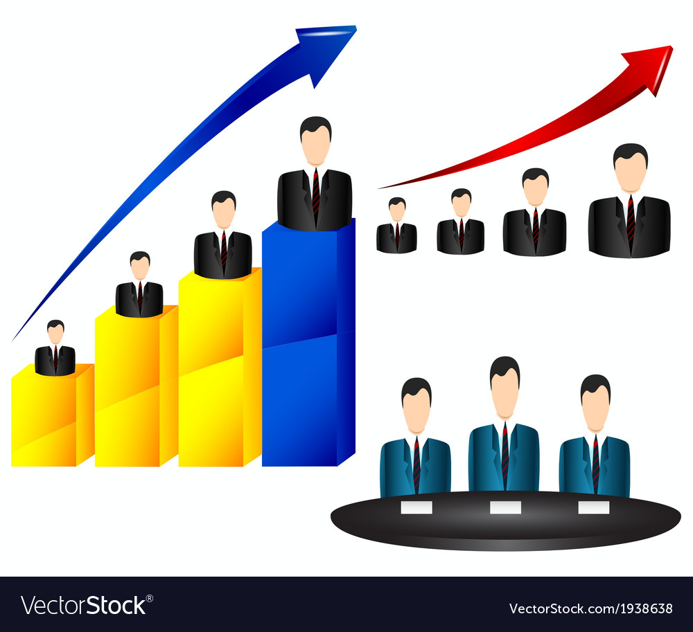 Businessman chart icon vector | Price: 1 Credit (USD $1)