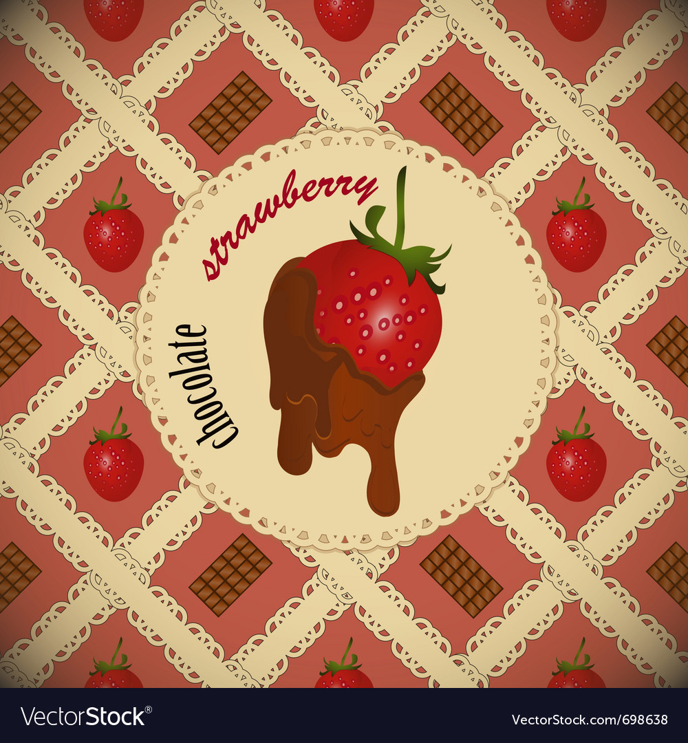 Chocolate dipped strawberrie vector | Price: 1 Credit (USD $1)