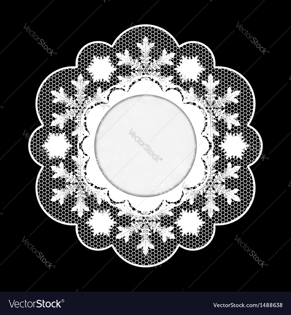 Christmas lace napkin frame for invitation or vector | Price: 1 Credit (USD $1)