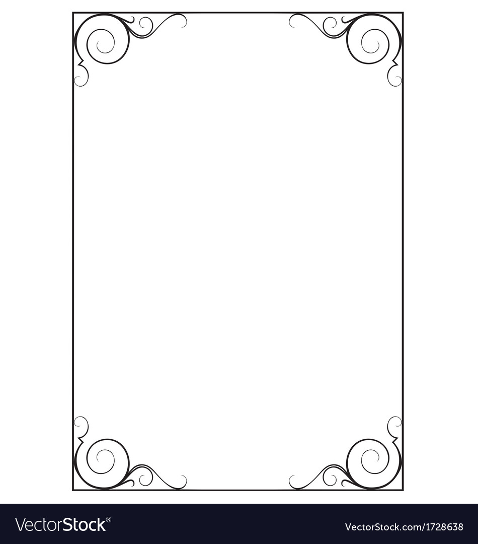 Decorative page border vector | Price: 1 Credit (USD $1)