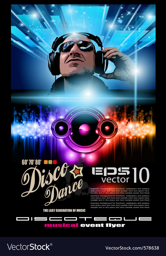 Disco music flyer vector | Price: 3 Credit (USD $3)