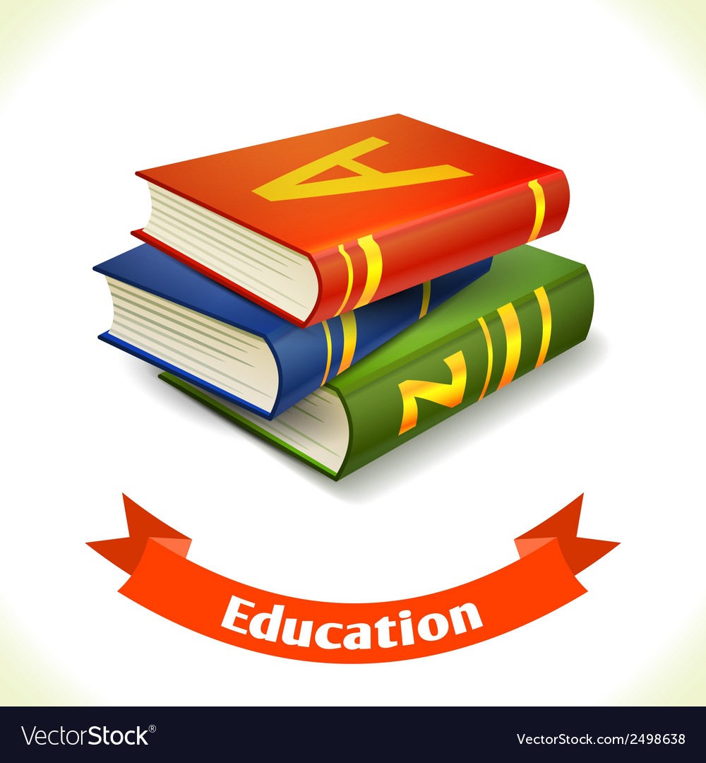 Education icon textbook vector | Price: 1 Credit (USD $1)