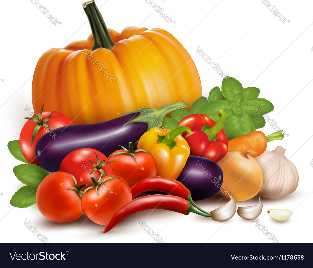 Fresh vegetables healthy food vector | Price: 3 Credit (USD $3)