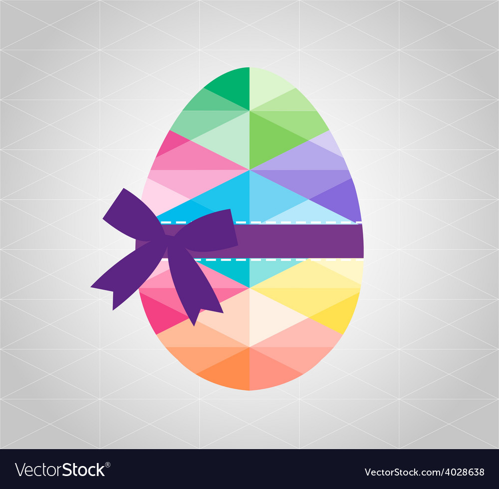 Geometric shape of egg easter egg triangular and vector | Price: 1 Credit (USD $1)