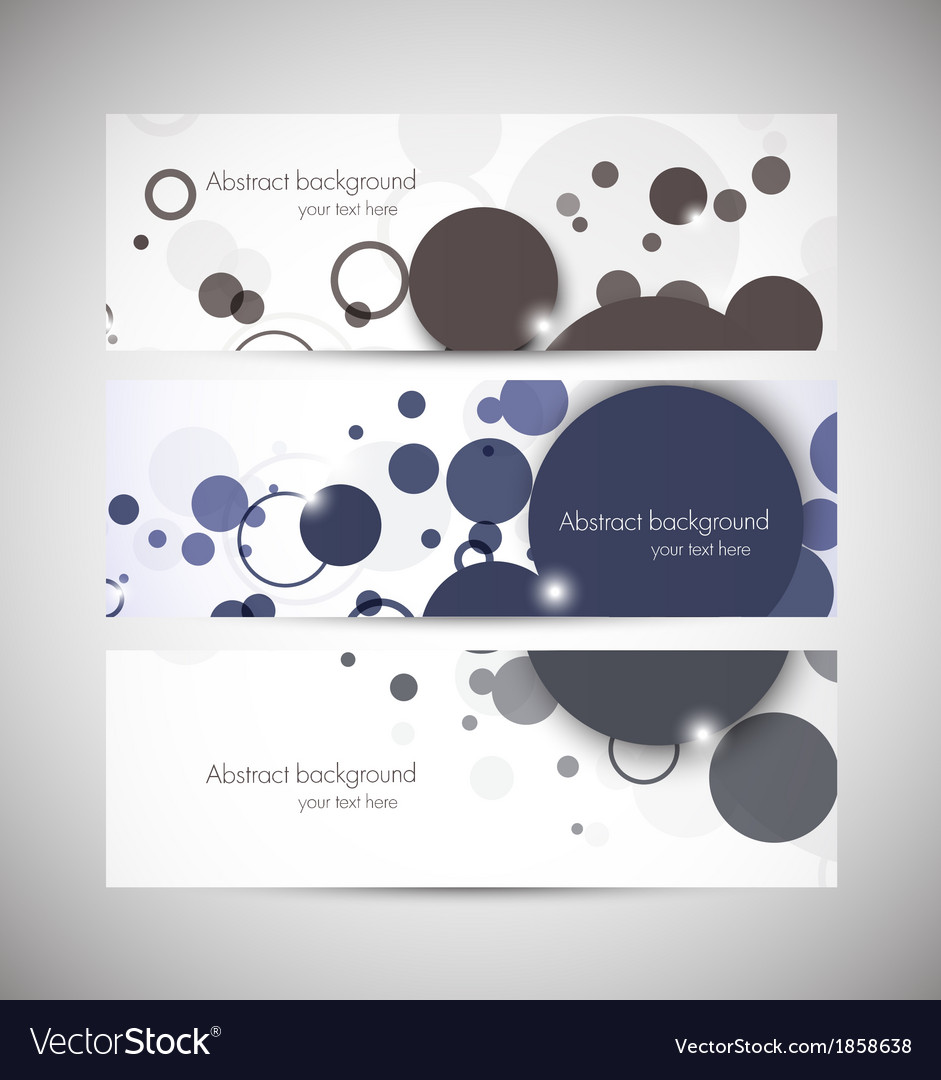 Set of banners with circles vector | Price: 1 Credit (USD $1)