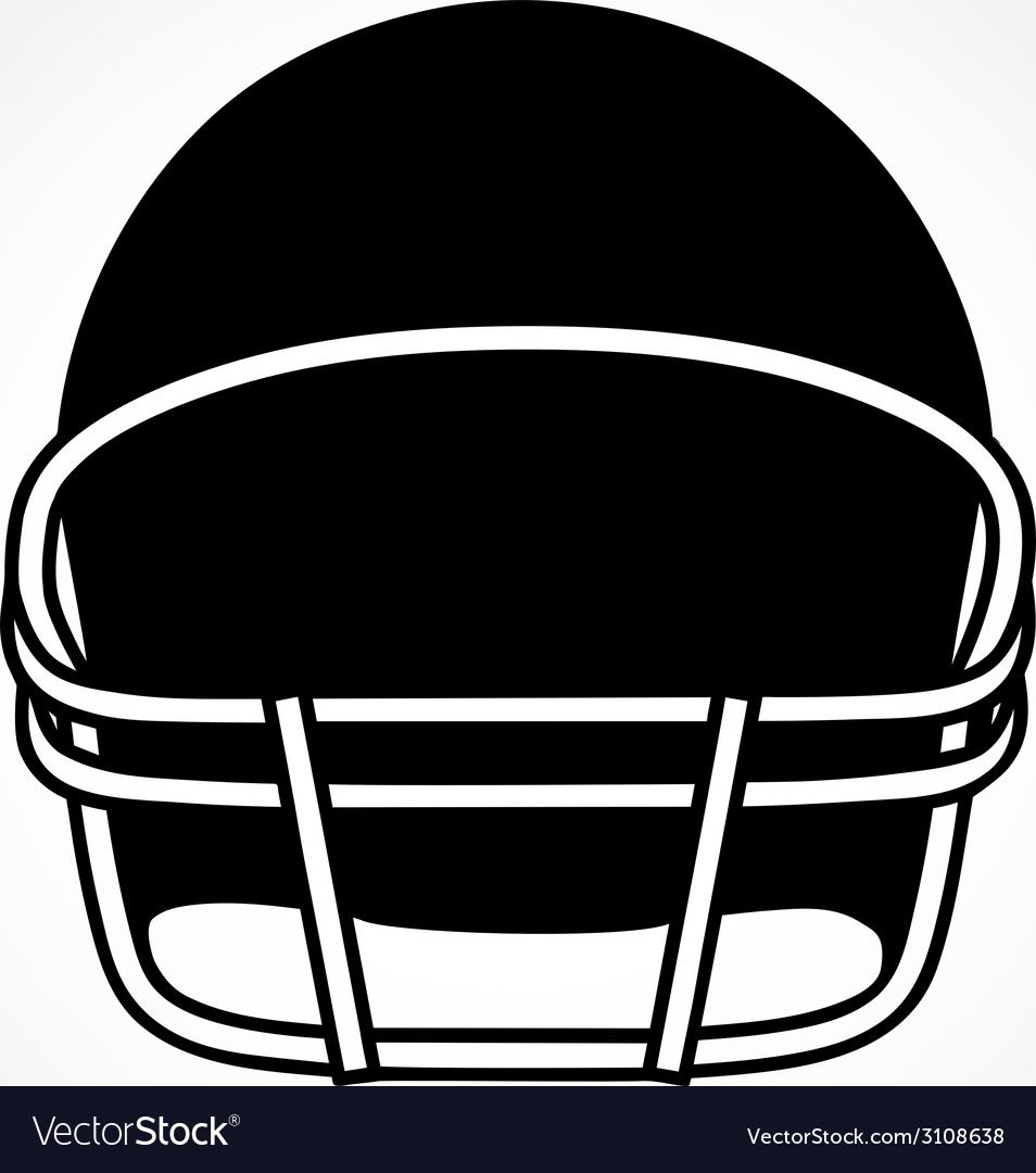 Silhouette symbol of american football helmet vector | Price: 1 Credit (USD $1)