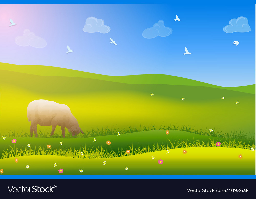 Summer field vector | Price: 3 Credit (USD $3)