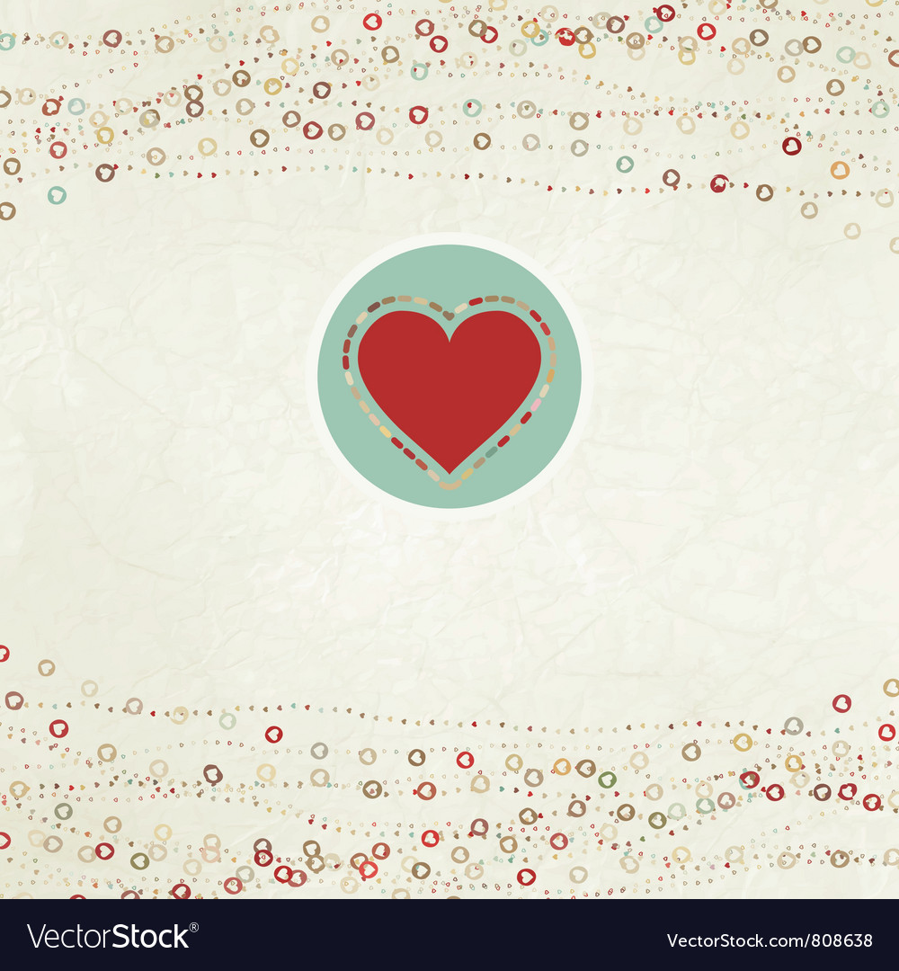 Valentines heart card vector   Price: 1 Credit (USD $1)