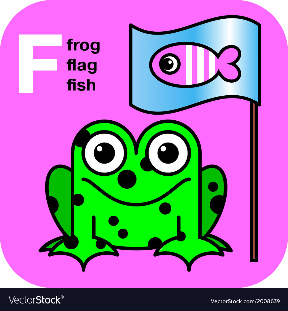 Abc frog flag fish vector | Price: 1 Credit (USD $1)