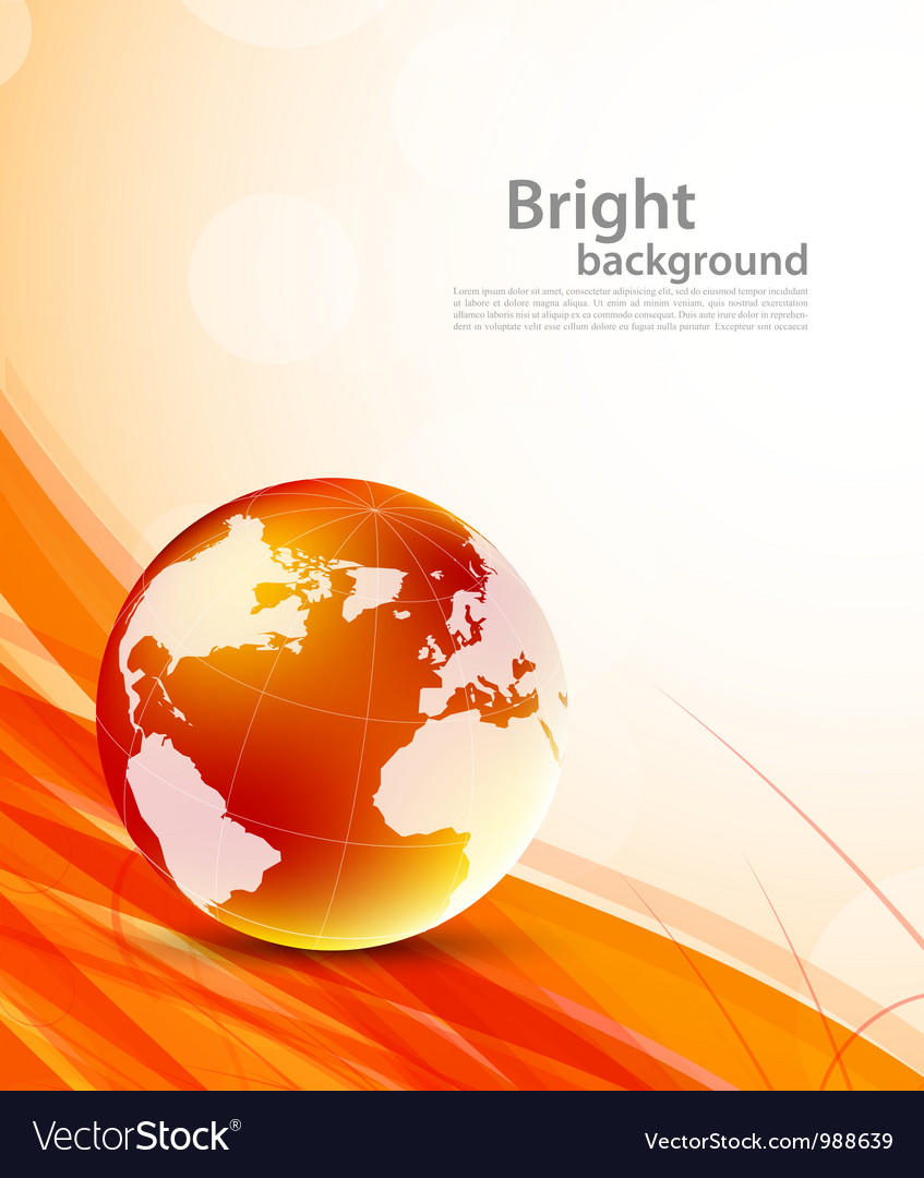 Background with orange globes vector   Price: 1 Credit (USD $1)
