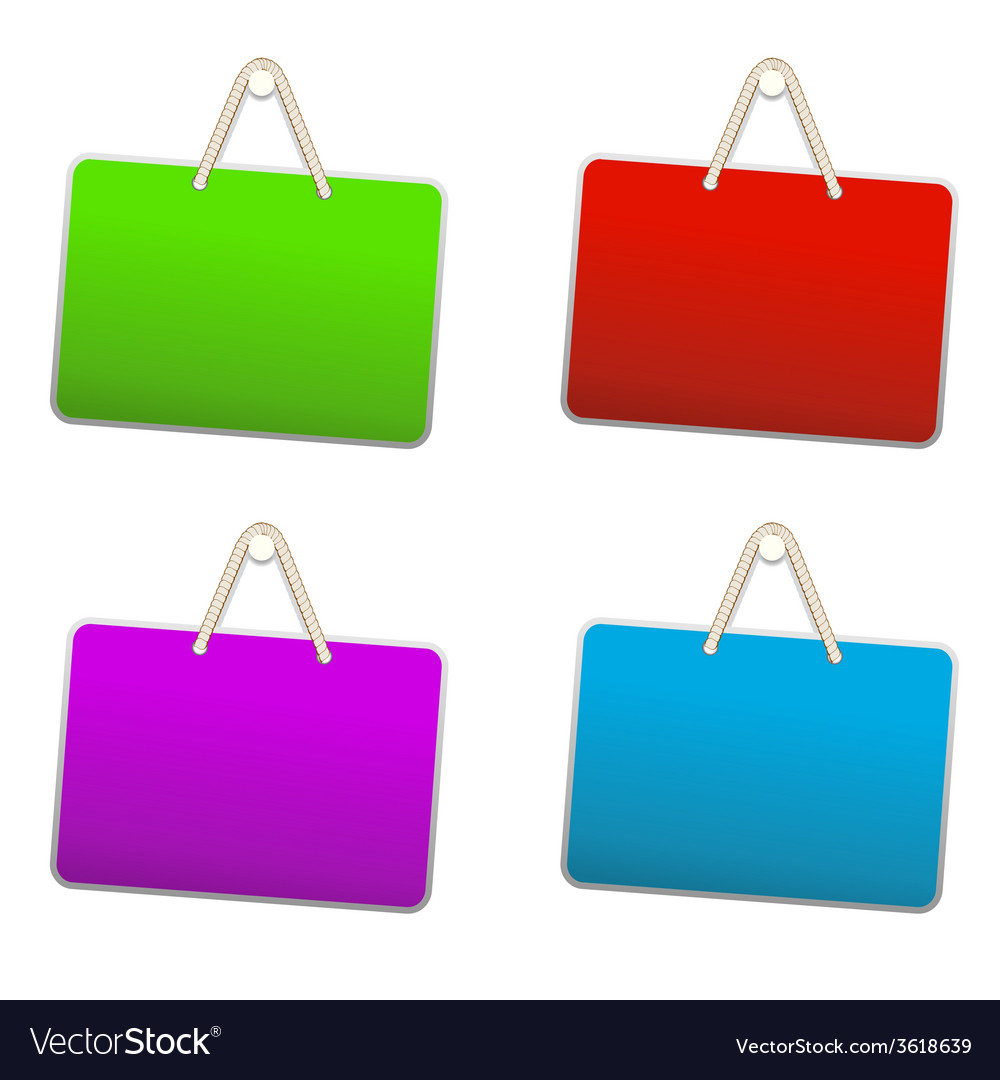 Blank colorful plastic sign vector | Price: 1 Credit (USD $1)