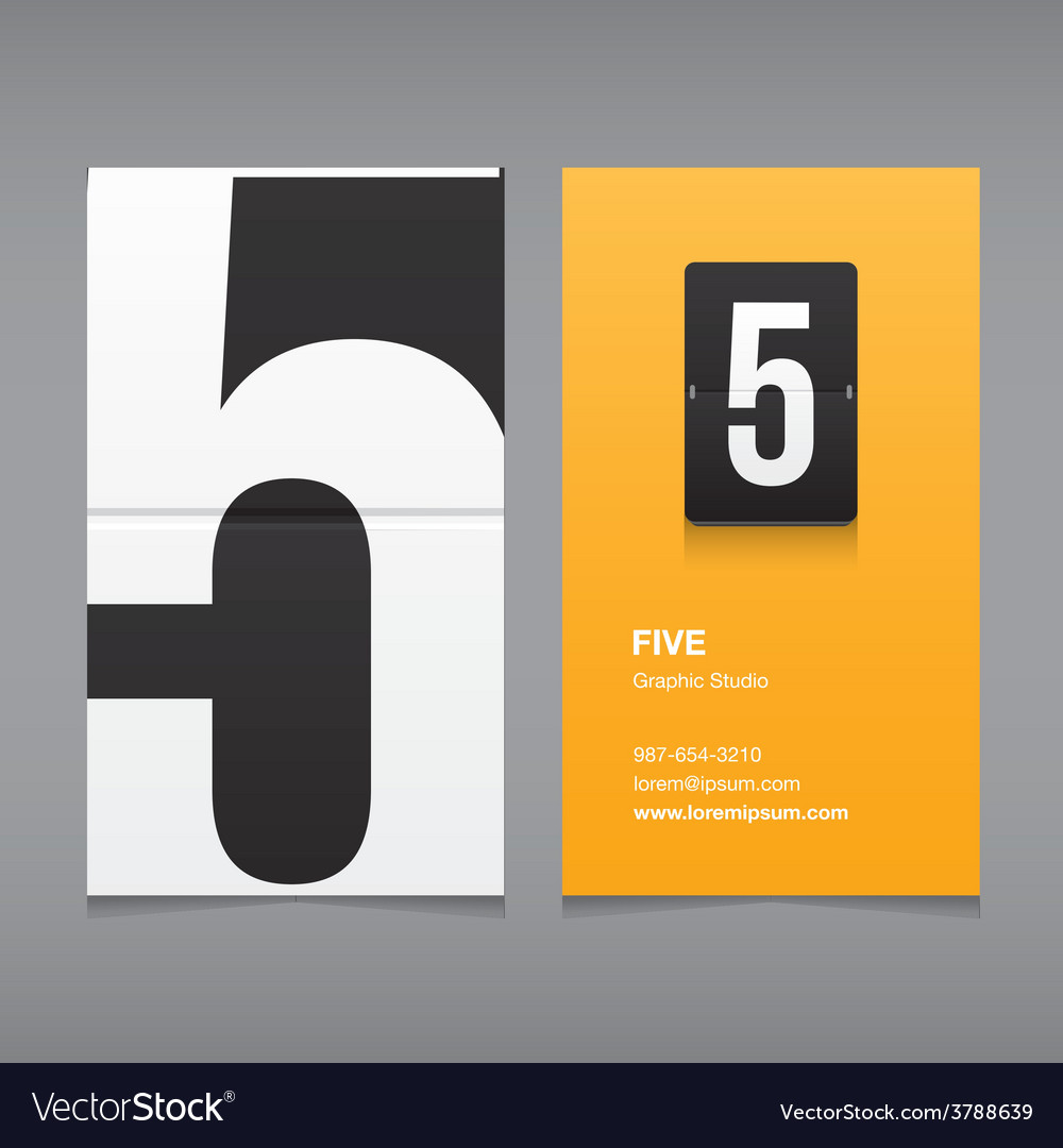 Business card number 5 vector | Price: 1 Credit (USD $1)