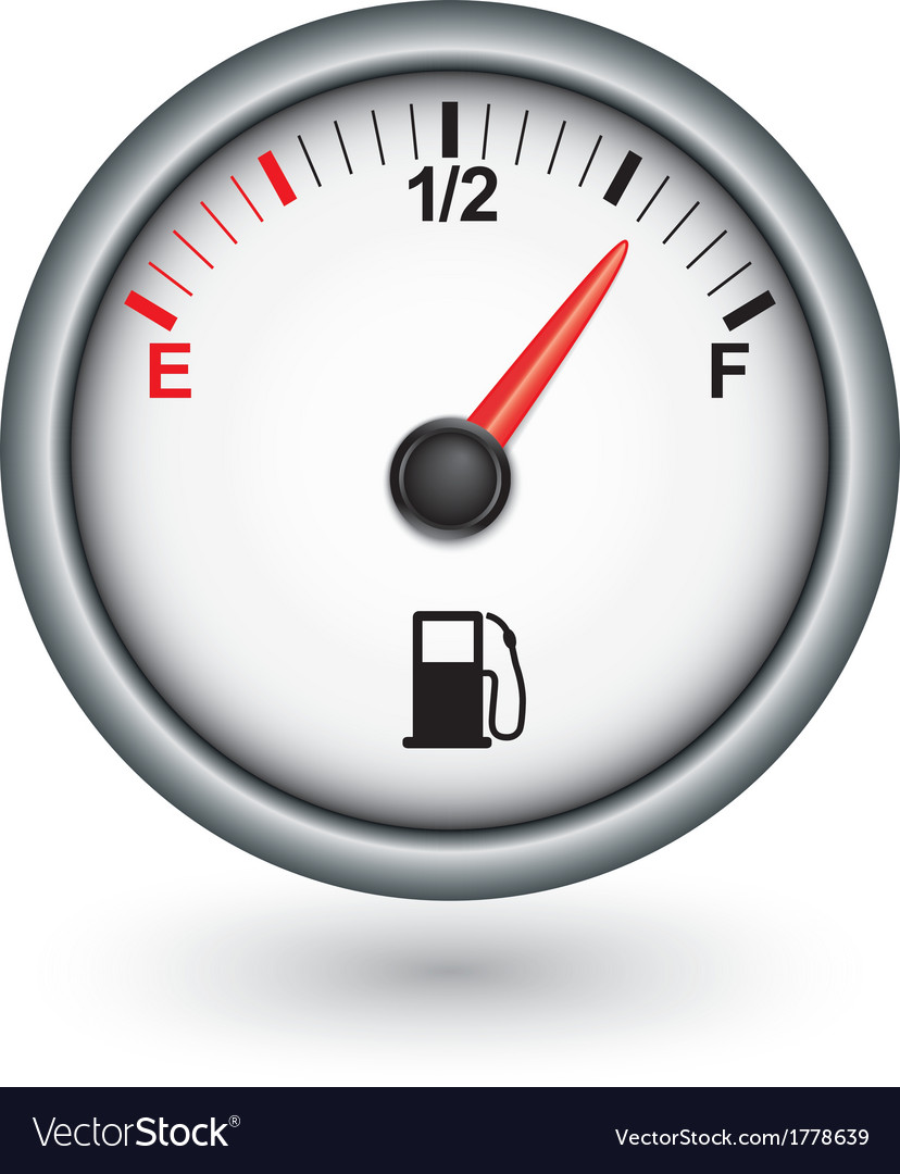 Car fuel gauge vector | Price: 1 Credit (USD $1)