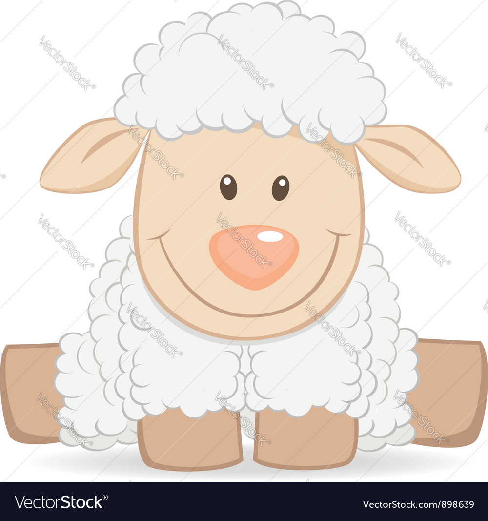 Cartoon baby sheep vector | Price:  Credit (USD $)