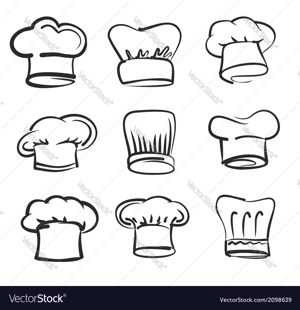 Chef hat icons vector | Price: 1 Credit (USD $1)