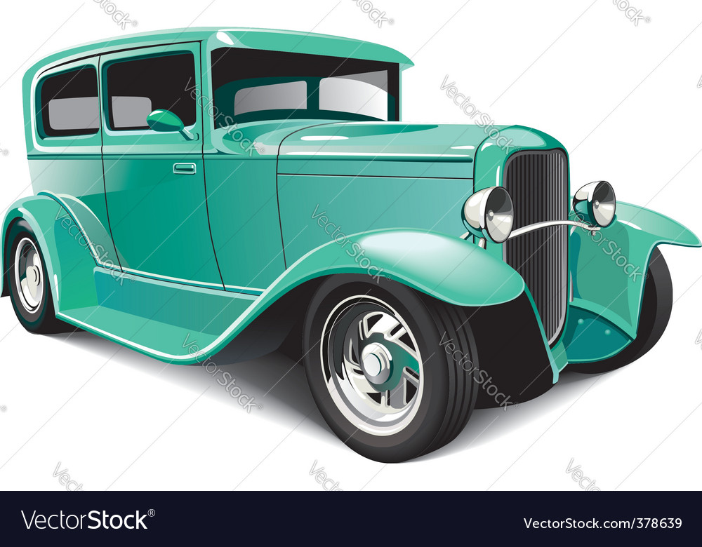 Classical hot rod vector | Price: 5 Credit (USD $5)