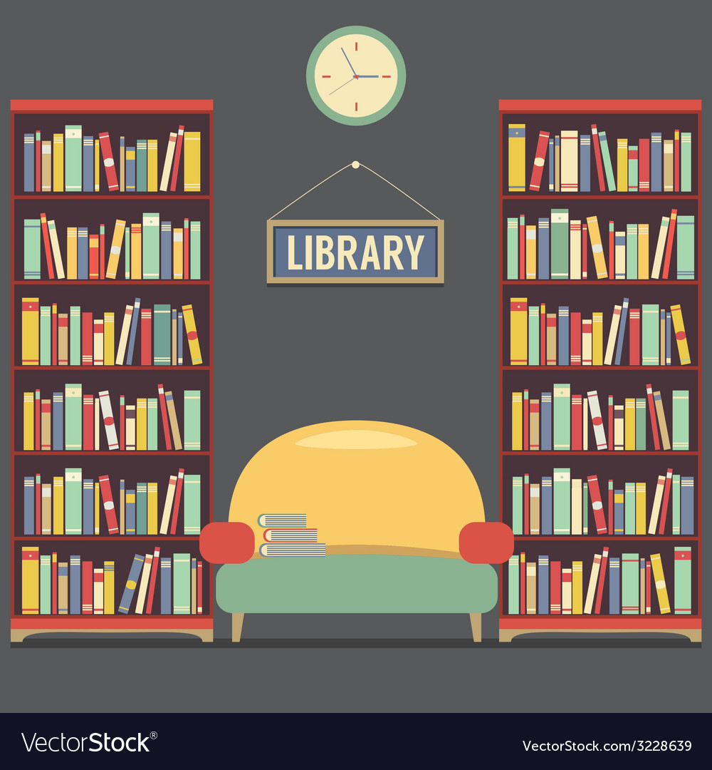 Empty reading seat in library vector | Price: 1 Credit (USD $1)