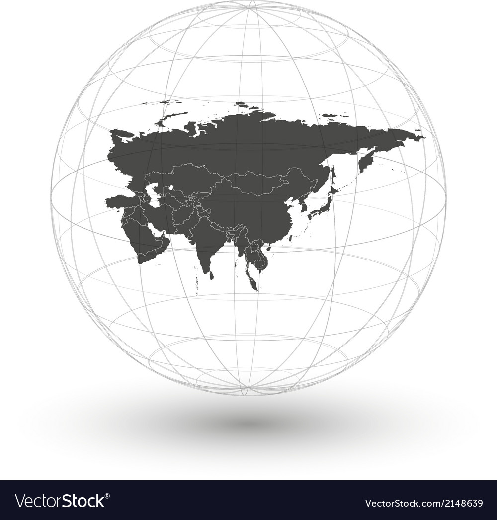Eurasia map background vector | Price: 1 Credit (USD $1)