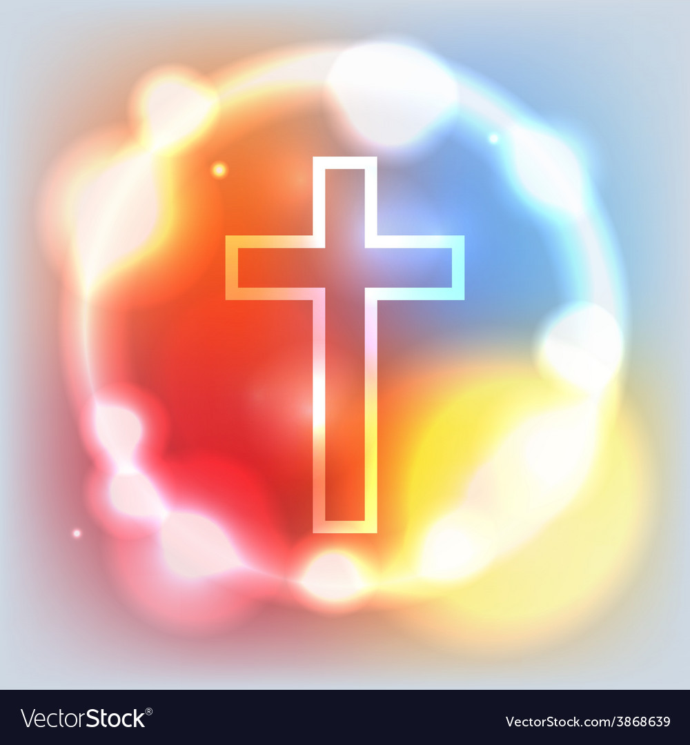 Holy cross glowing vector | Price: 1 Credit (USD $1)