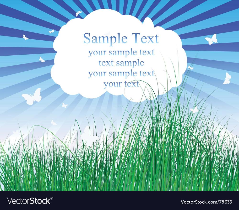 Meadow illustration vector | Price: 1 Credit (USD $1)