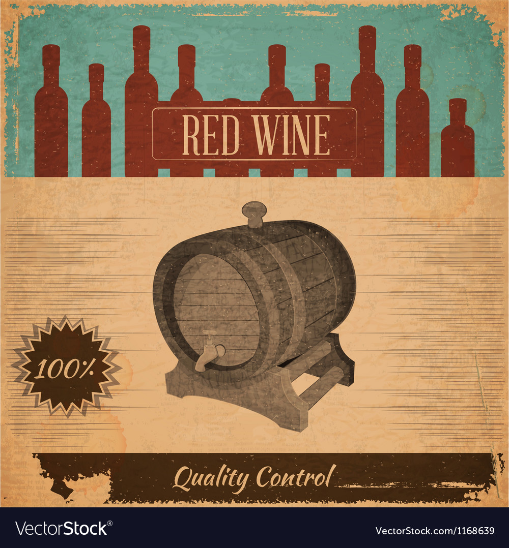 Red wine card vector | Price: 1 Credit (USD $1)