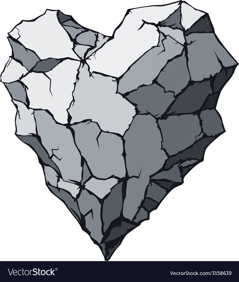 Stone heart vector | Price: 1 Credit (USD $1)