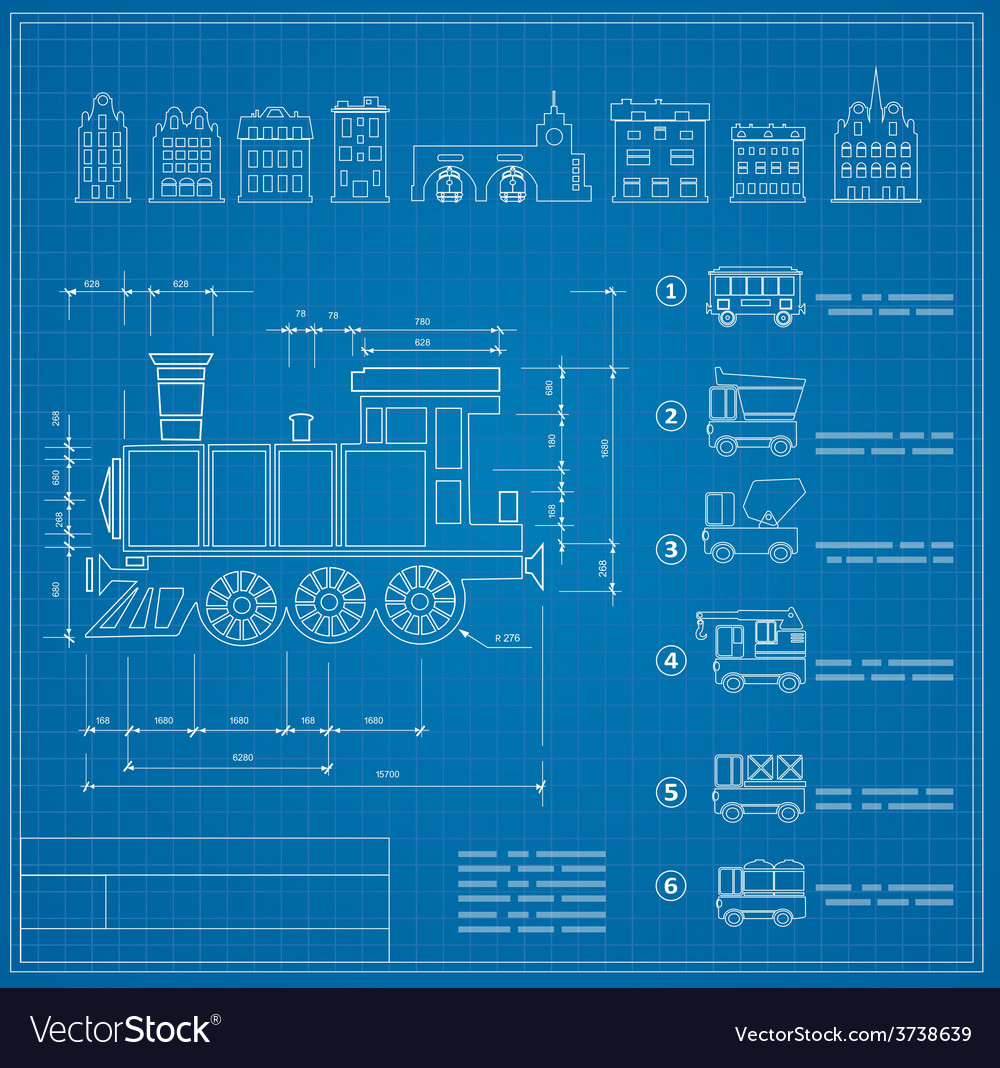 Technical drawings vector