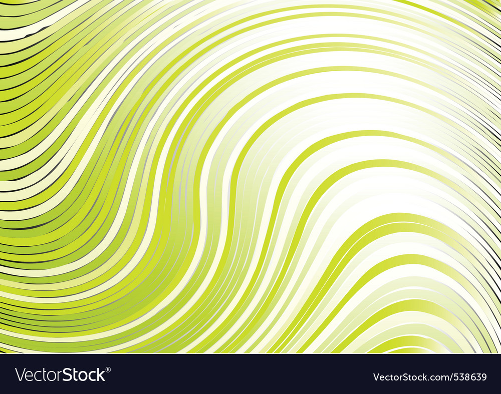Wavy abstract backbround in green color vector | Price: 1 Credit (USD $1)