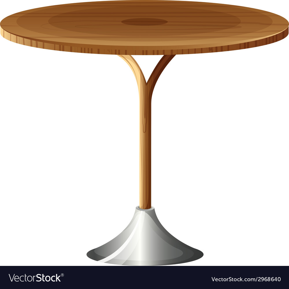 A wooden round table vector | Price: 1 Credit (USD $1)