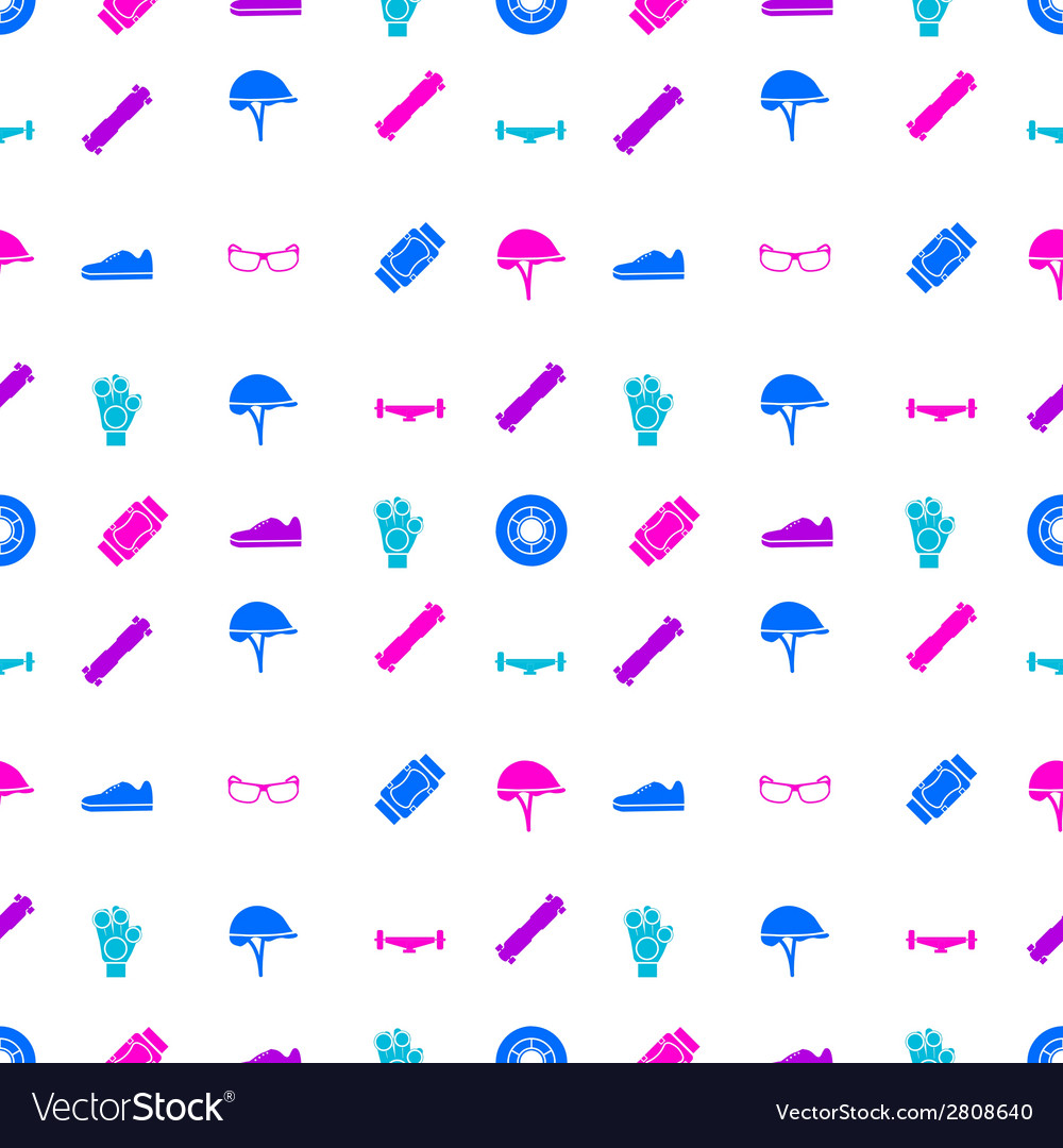 Background for accessories for longboarders vector | Price: 1 Credit (USD $1)