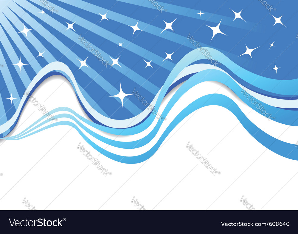 Beautiful background with stars vector | Price: 1 Credit (USD $1)
