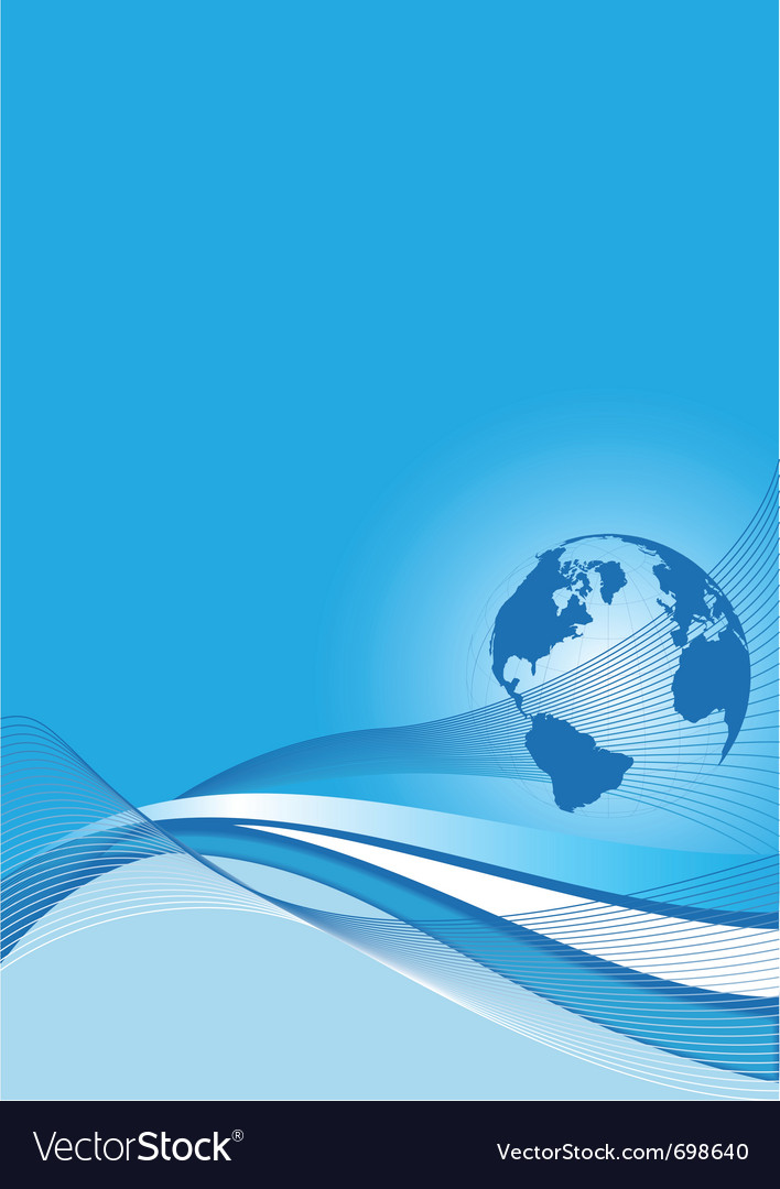 Business background with a blue world globe vector | Price: 1 Credit (USD $1)
