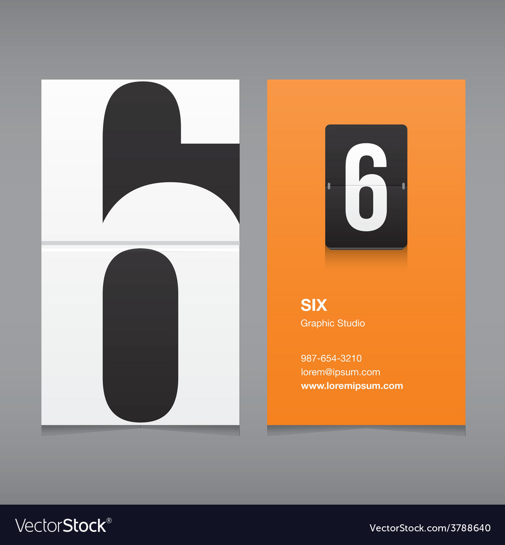 Business card number 6 vector | Price: 1 Credit (USD $1)