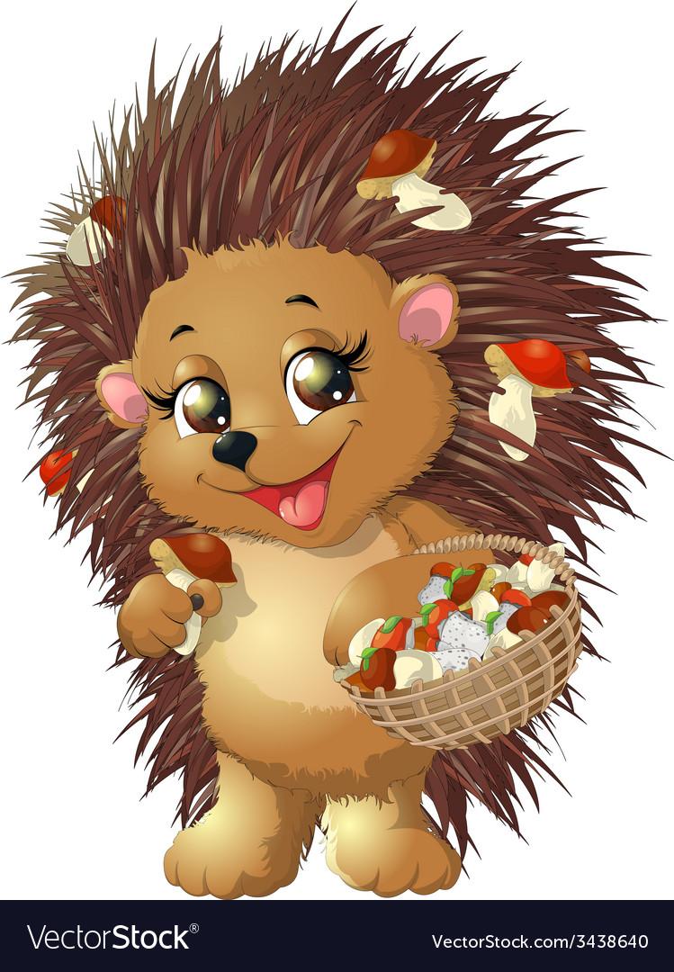 Hedgehog vector | Price: 3 Credit (USD $3)
