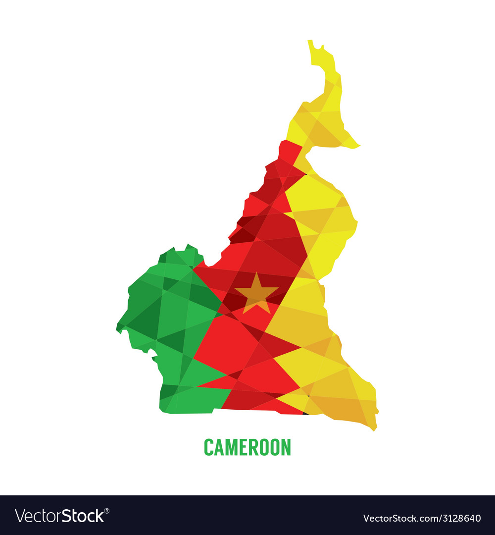 Map of cameroon vector | Price: 1 Credit (USD $1)