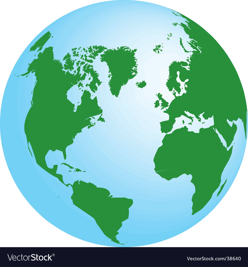 Planet earth map vector | Price: 1 Credit (USD $1)