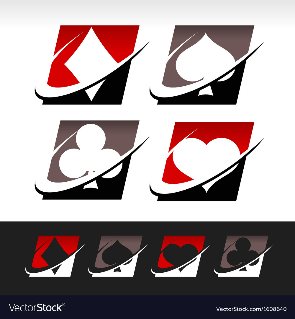 Swoosh poker icons vector | Price: 1 Credit (USD $1)