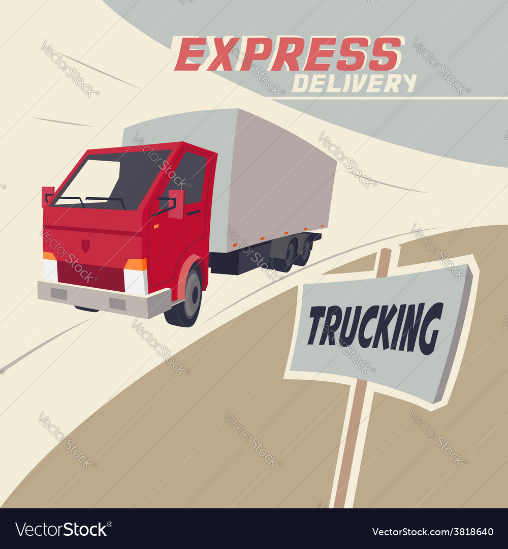 Truck express delivery vector | Price: 3 Credit (USD $3)