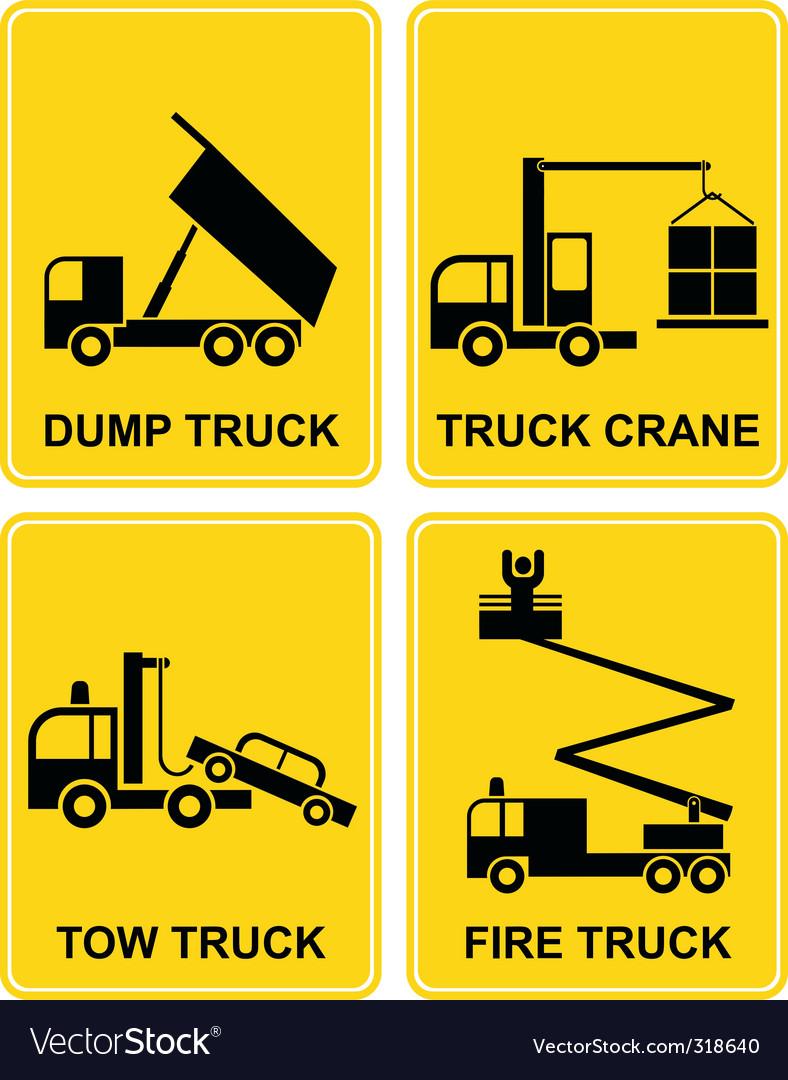 Truck signs vector